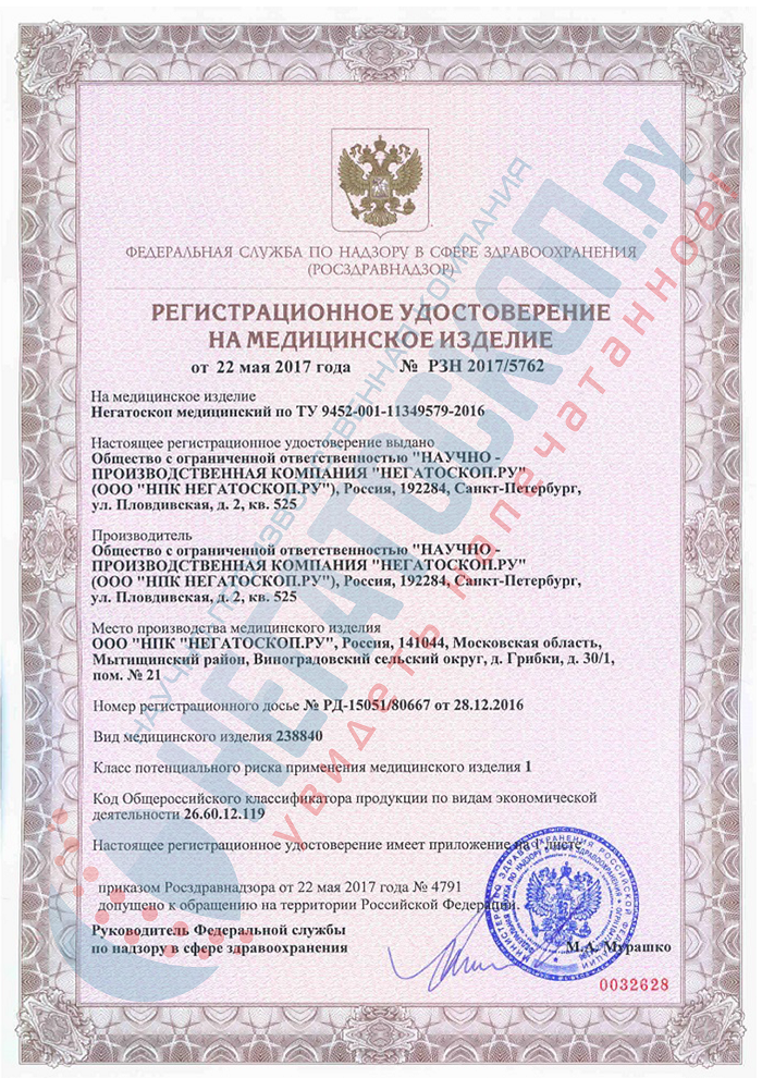 License and Registration Certificate